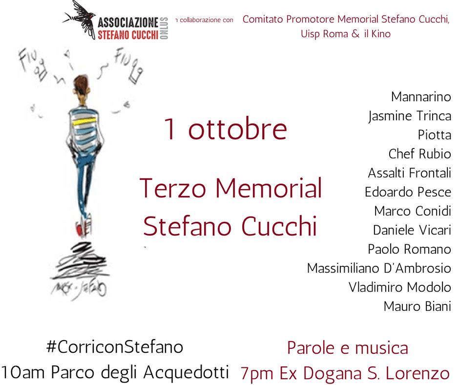 Terzo Memorial Stefano Cucchi: il programma della giornata
