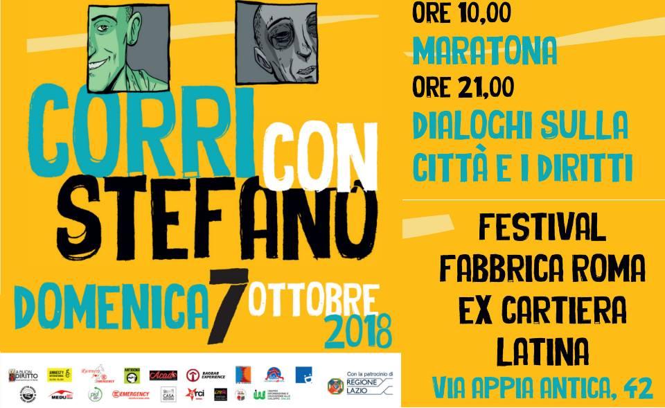 Corri con Stefano – Memorial Stefano Cucchi 2018