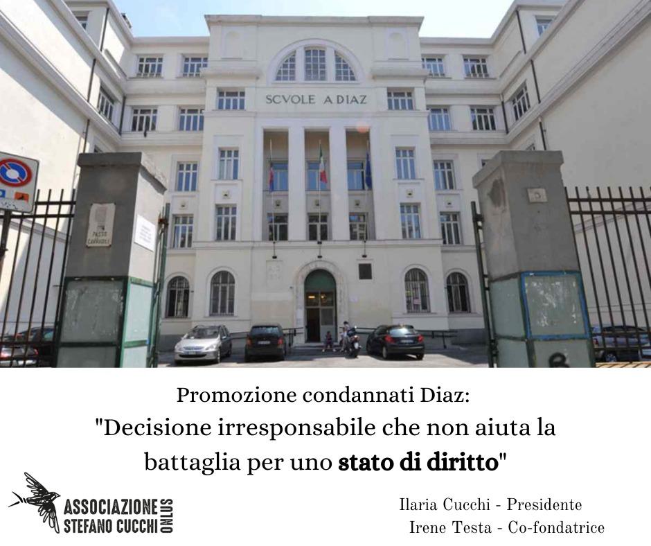 """G8 Genova 2001: """"Grave la promozione dei condannati per la scuola Diaz"""""""